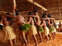 Tribo da etnia Dessana na Reserva de Desenvolvimento Sustentável do Tupé, em Manaus.