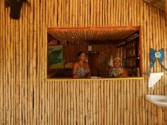 As gente boa Milene e Paula funcionárias da pousada e restaurante comunitário Brisa do Céu, na Comunidade do Céu.